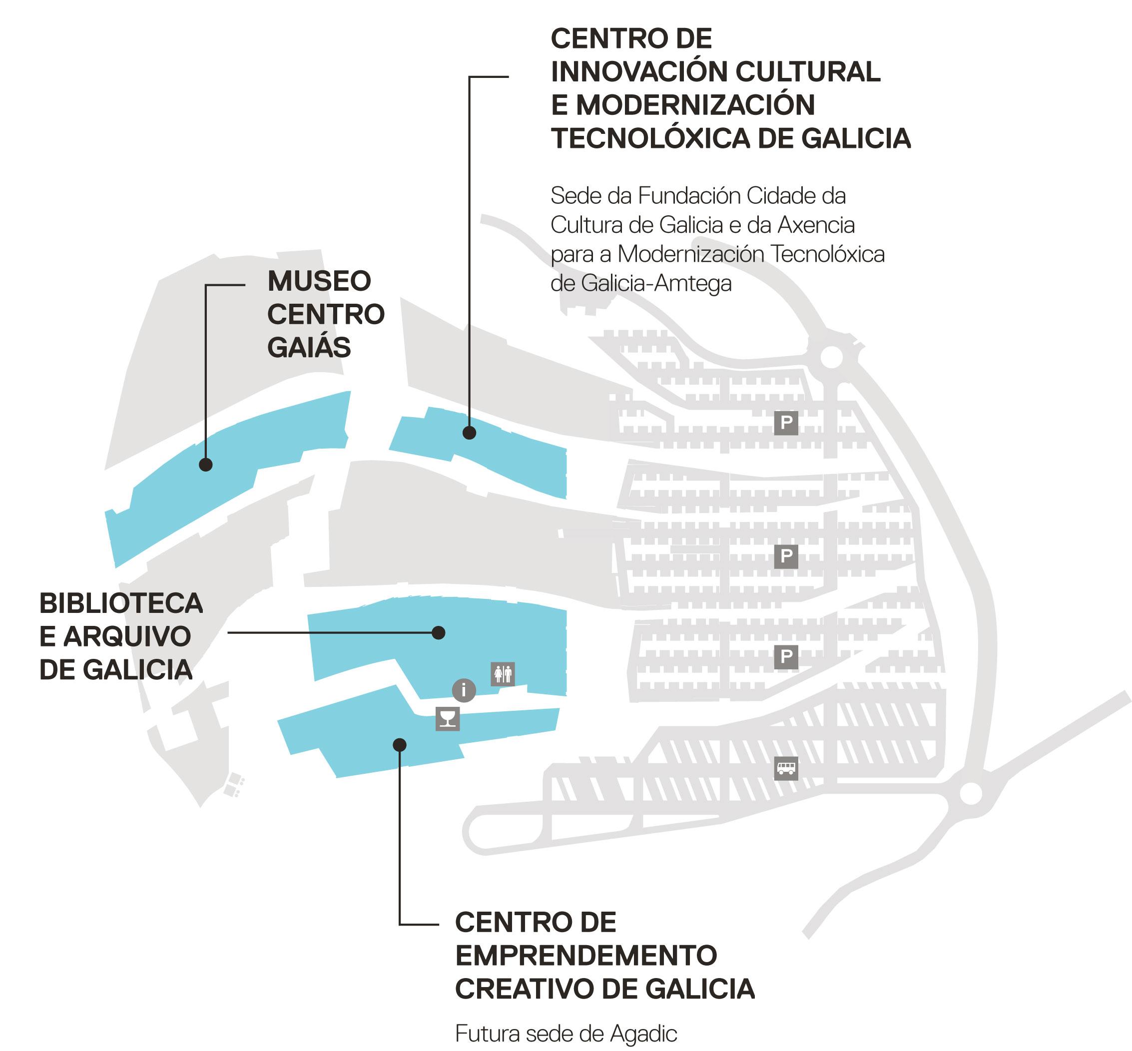 A Fundación Cidade da Cultura inicia o traslado das entidades prevista segundo o Plan Gaiás
