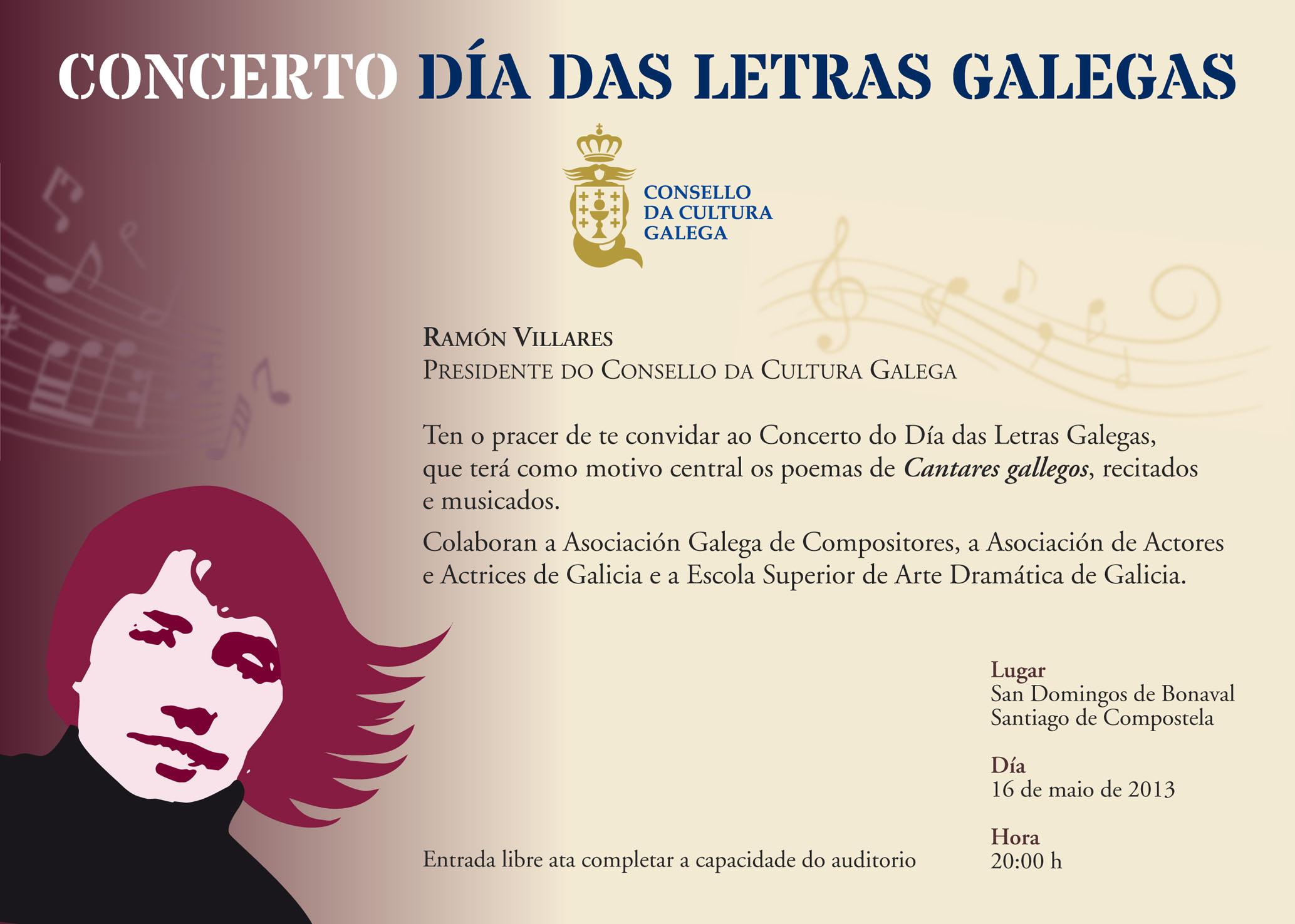O concerto <i>Aqueles doces cantares</i> terá lugar ás 20:00 horas en San Domingos de Bonaval