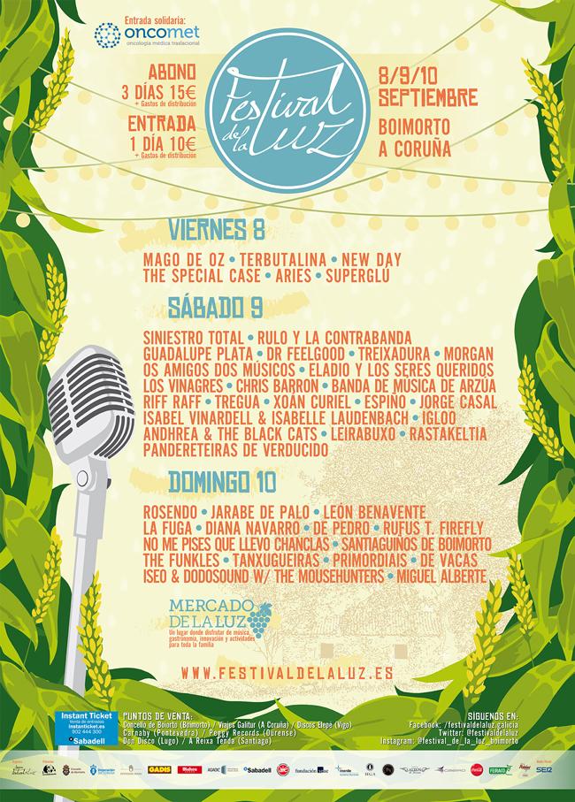 Máis de corenta actuacións para a sexta edición do Festival de La Luz