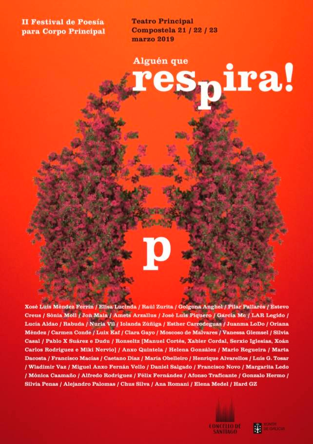 O IIº festival Alguén que respira! expande tres xornadas a celebración do Día da Poesía