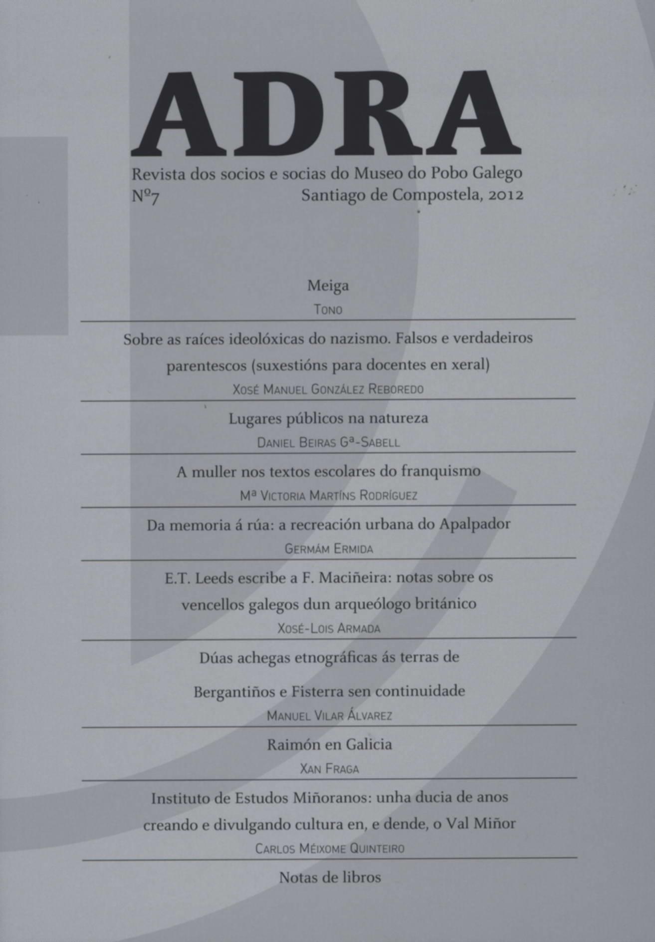 A revista dos socios do Museo do Pobo publica o seu número de 2012