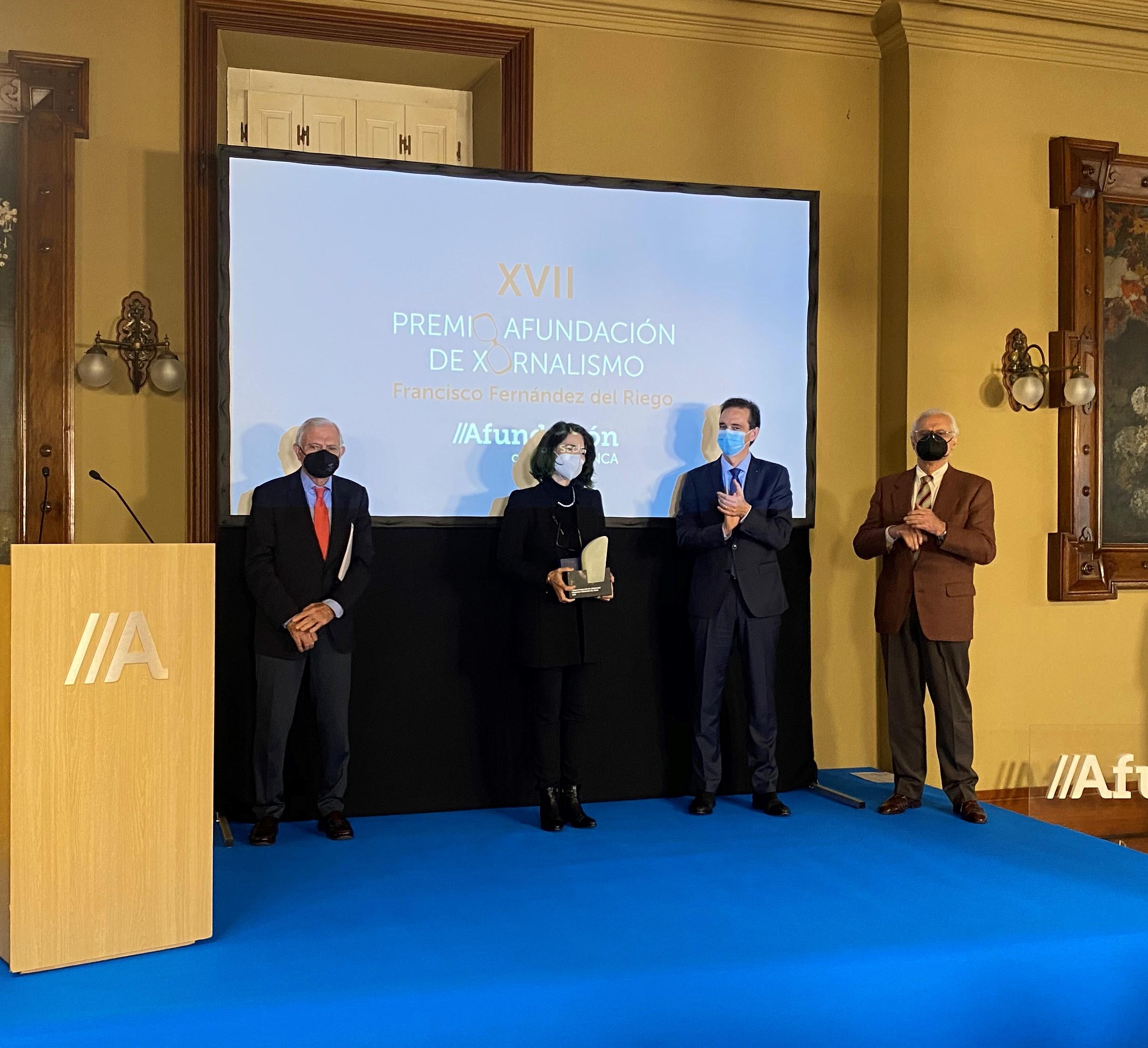 A ourensá recibiu tamén esta semana o premio internacional Artista comprometida