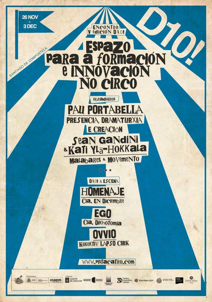 Comeza en Santiago o Vº Encontro D10! de Formación e Innovación en Circo
