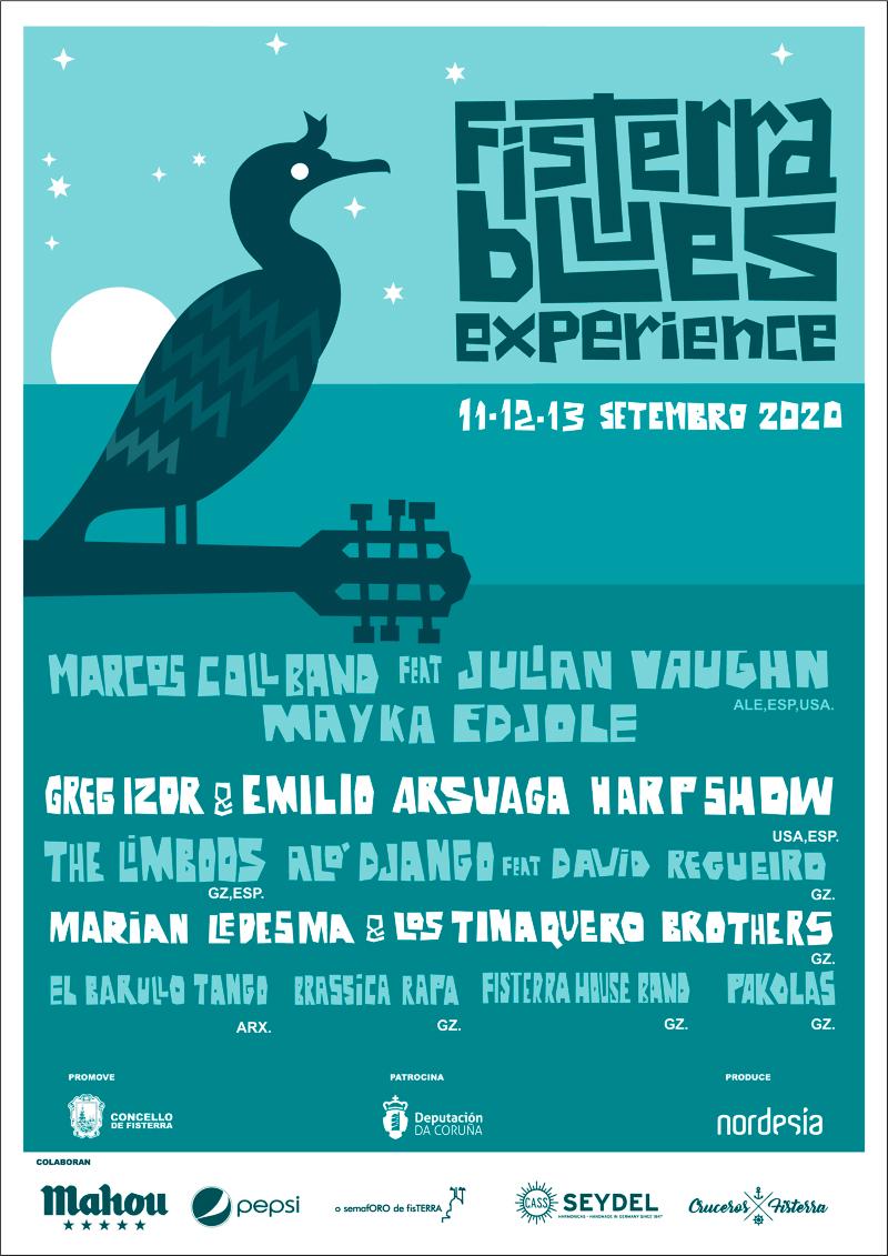 Confírmase celebración e cartel do Fisterra Blues Experience con menos dunha semana de antelación
