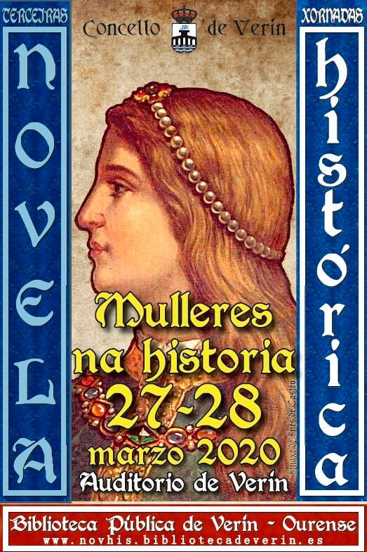 Verín reunirá especialistas de novela histórica con perspectiva sobre autoras e personaxes femininas
