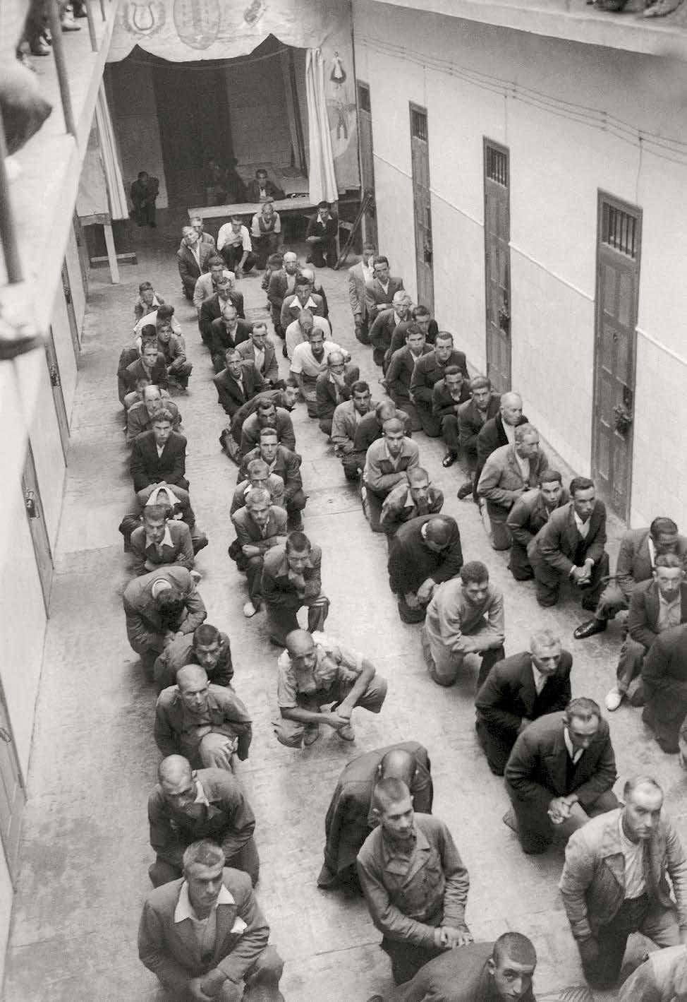 Interior do c�rcere provincial da Coru�a. Arquivo Cancelo