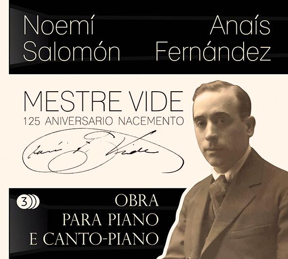 A pianista Noemí Salomón e a soprano Anaís Fernández asinan esta gravación impulsada por Óscar Ibáñez