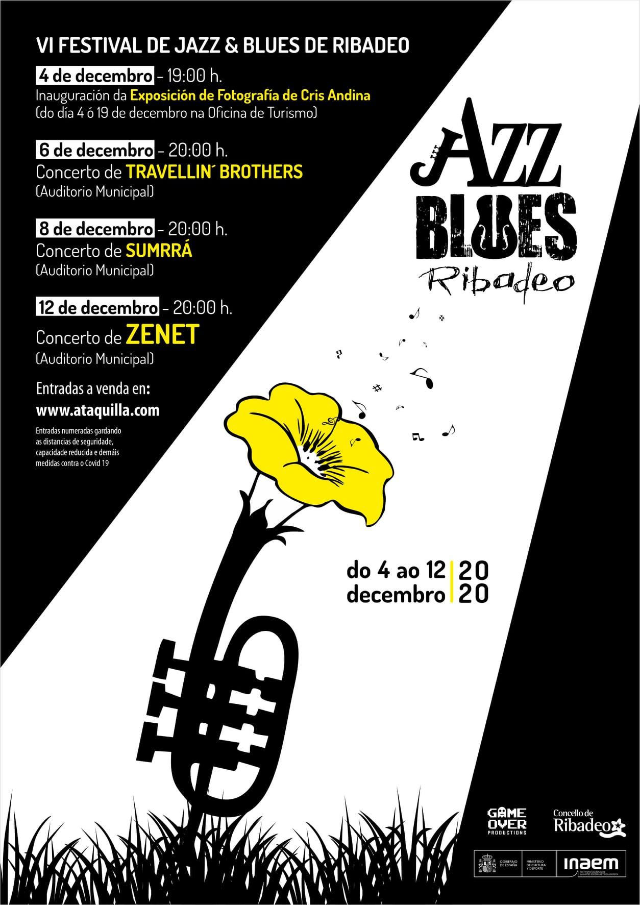 O festival de jazz e blues de Ribadeo comeza esta semana a súa sexta edición
