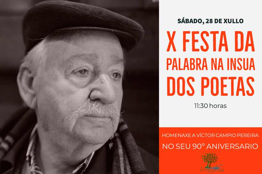 A Festa da Palabra da Insua dos Poetas preparaba para este sábado celebrar o seu 90 aniversario
