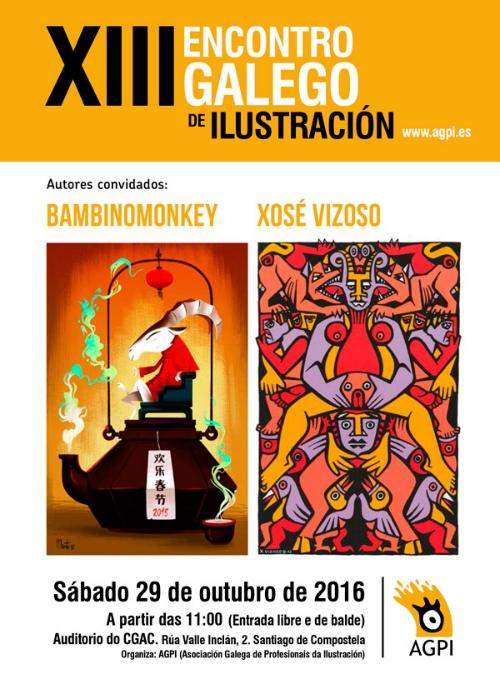 Contará co histórico cartelista Xosé Vizoso e co ilustrador Ignacio F. Maroto