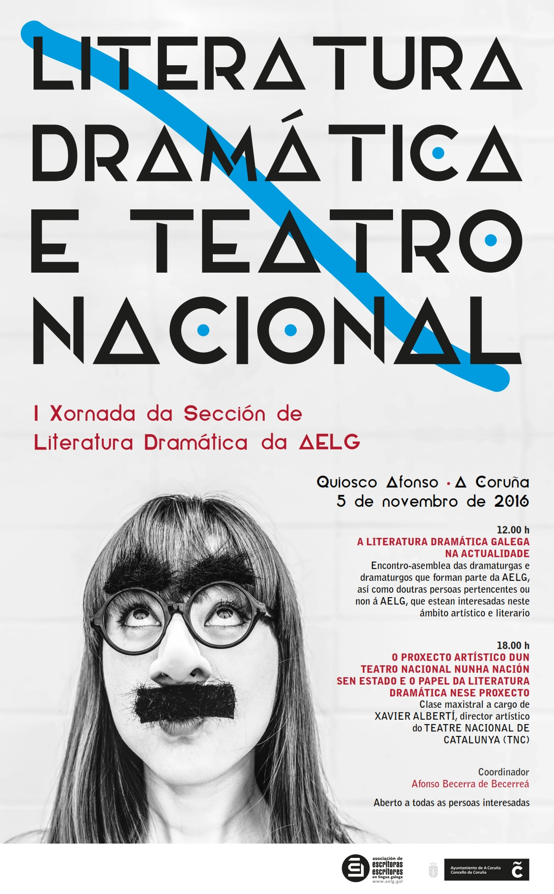 O Quiosco Alfonso acolle o evento co lema <i>Literatura Dramática e Teatro Nacional</i>