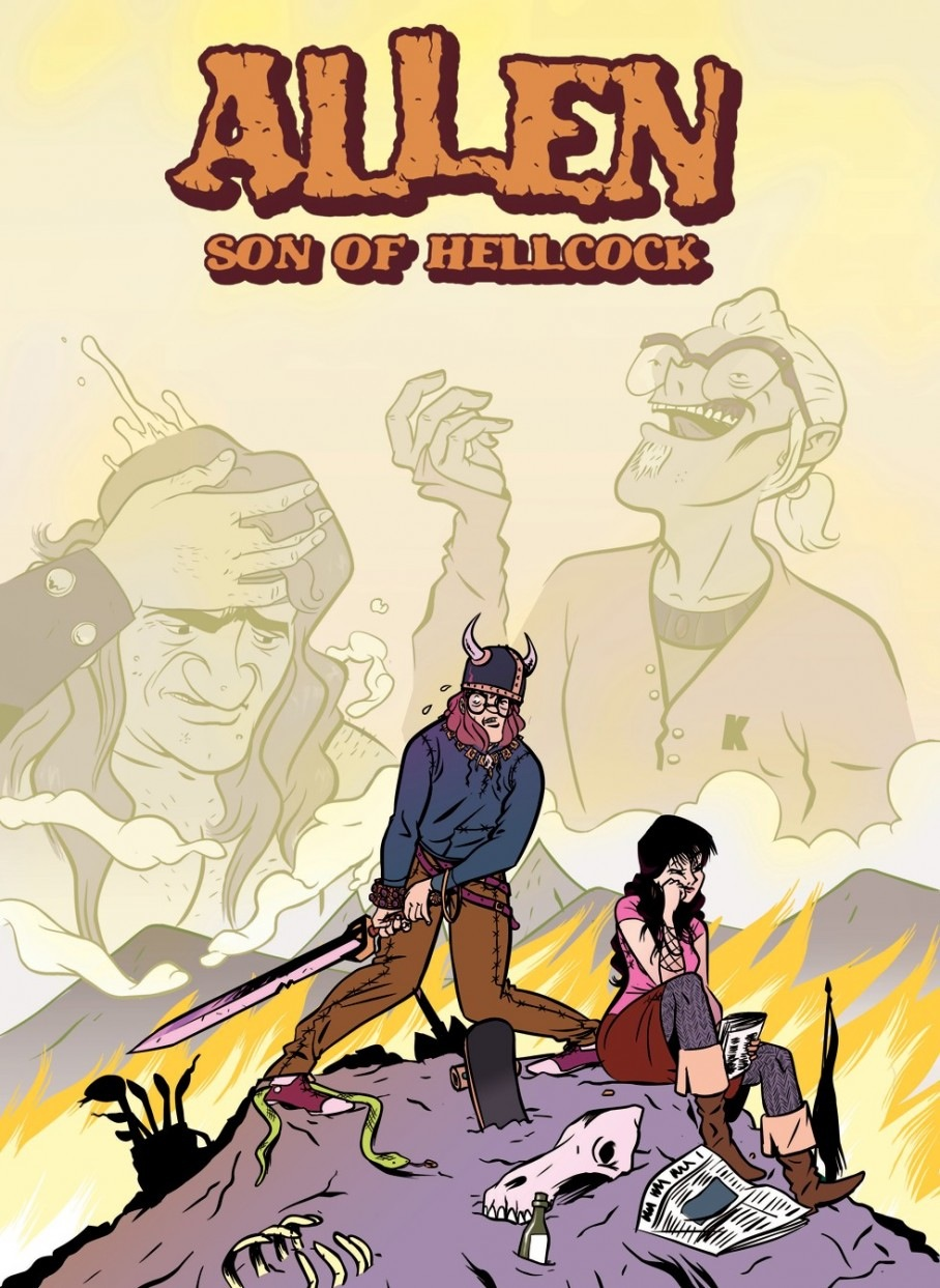 O debuxante vigués publicará <i>Allen son of hellcock</i> con Z2 cómics