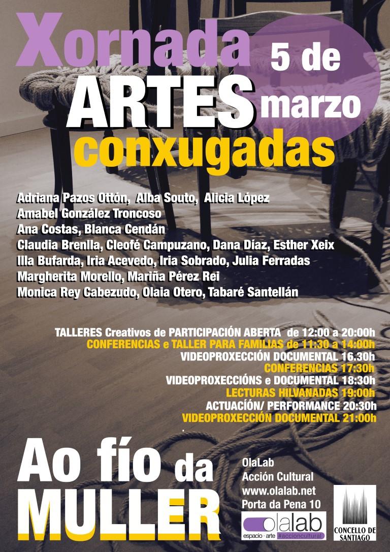 A xornada Artes Conxugadas ao Fío da Muller celébrase o vindeiro 5 de marzo