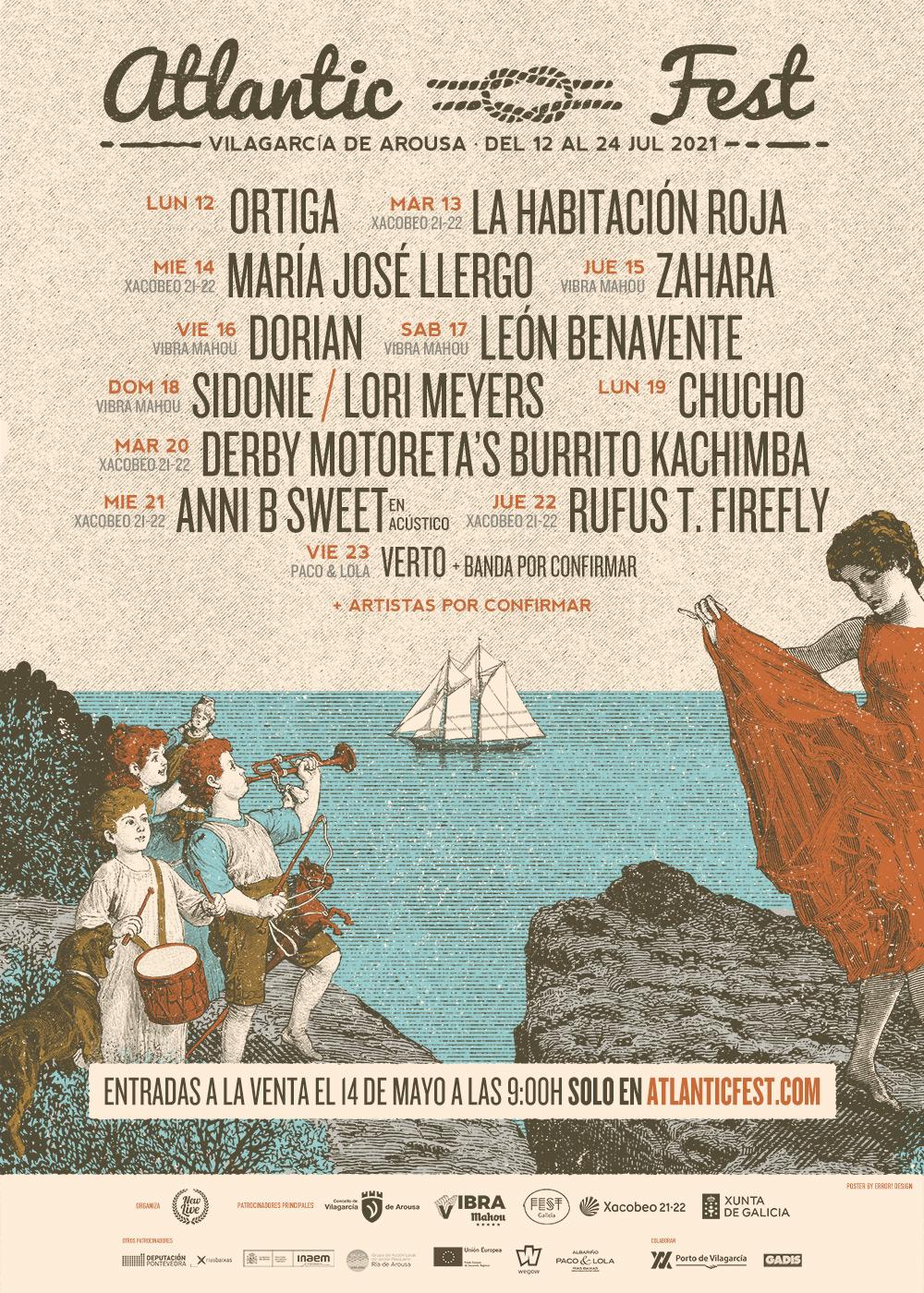 O festival encherá Vilagarcía de música con 18 bandas en varios escenarios espallados pola cidadeO Atlantic Fest 2021 convértese nunha programación de 12 días de concertos