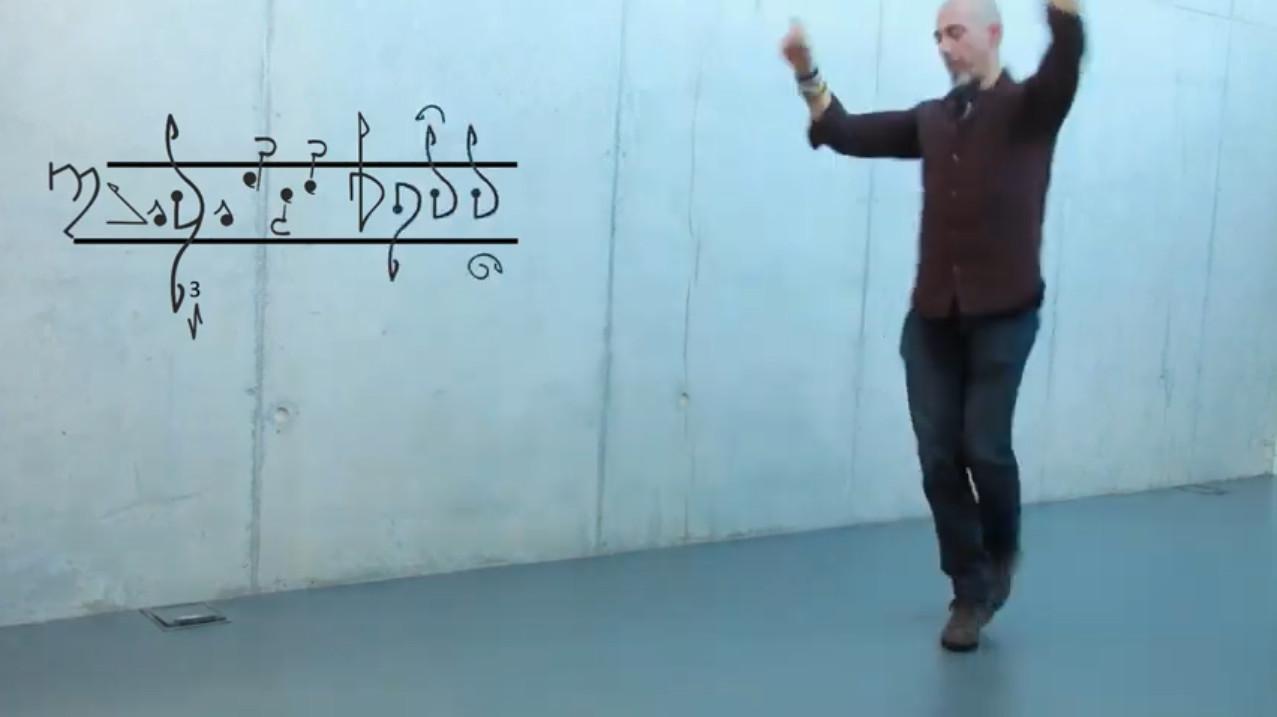 Serxio Cobos propón unha codificación escrita coa que quere revolucionar a danza tradicional