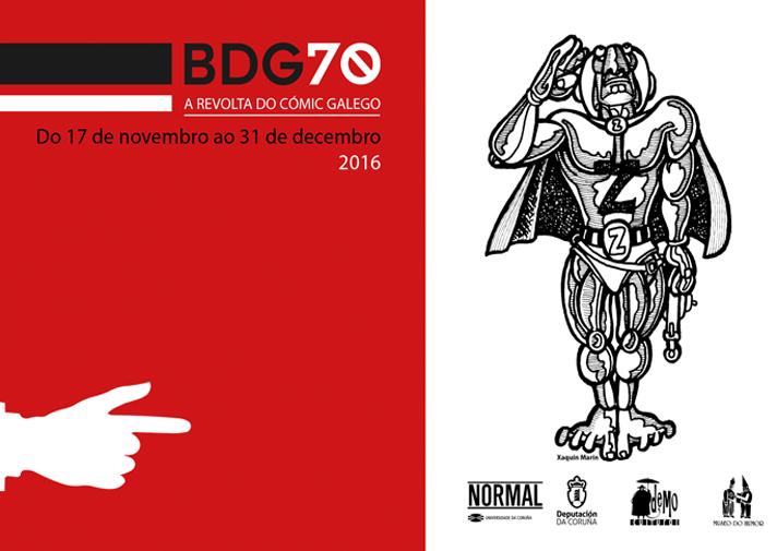 <i>BDG70: a revolta do cómic galego</i> pode verse na sala Normal ata o 31 de decembro