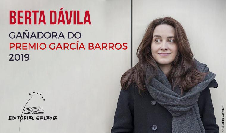 Berta Dávila faise co XXXI Premio de Novela Manuel García Barros
