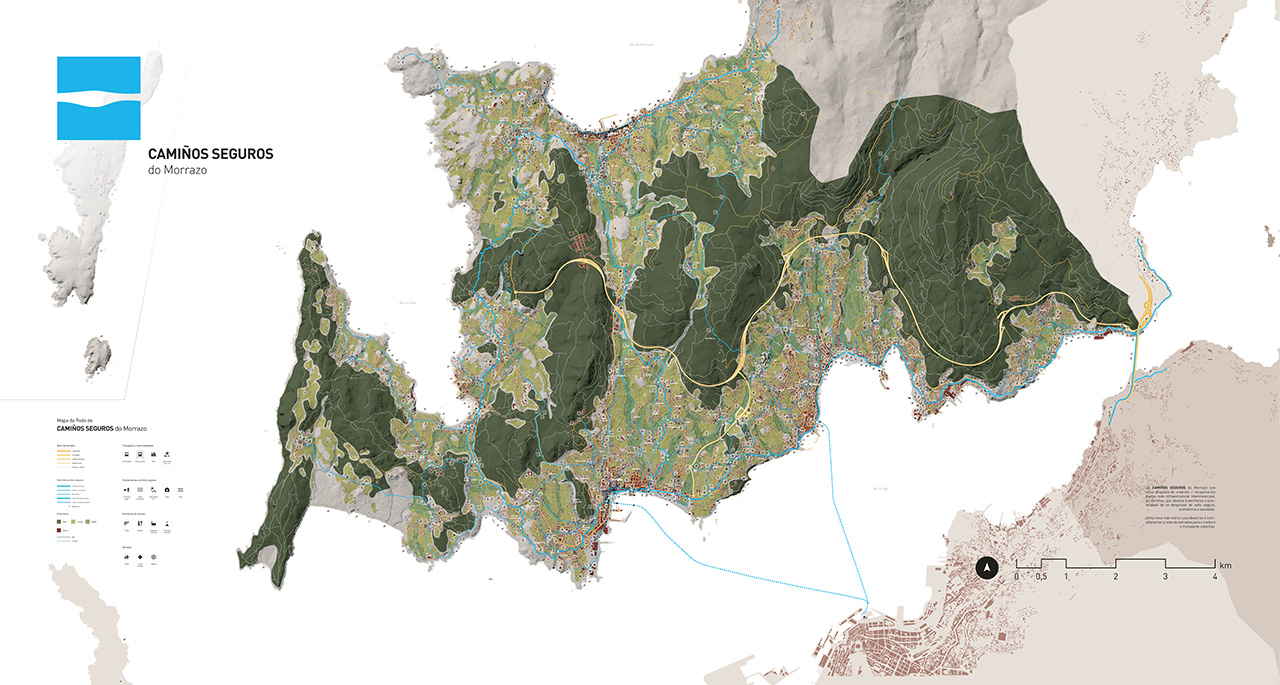 Mapa de Camiños Seguros do Morrazo