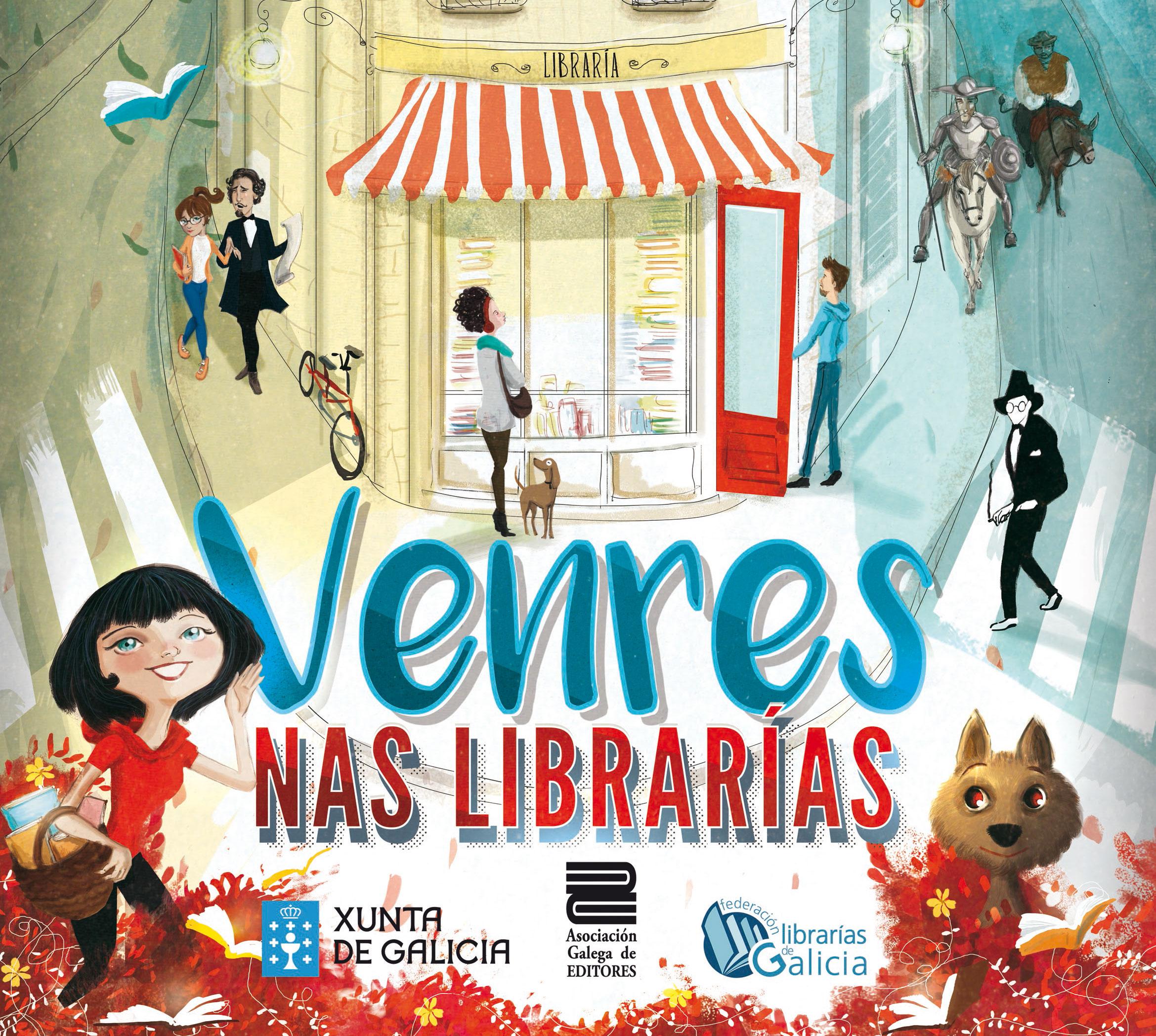 <i>Venres nas librarías</i> achega 80 encontros con autores