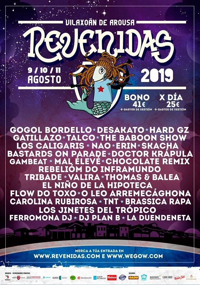 O Festival Revenidas pecha o cartel e o Armadiña Rock abre as confirmacións con seis bandas