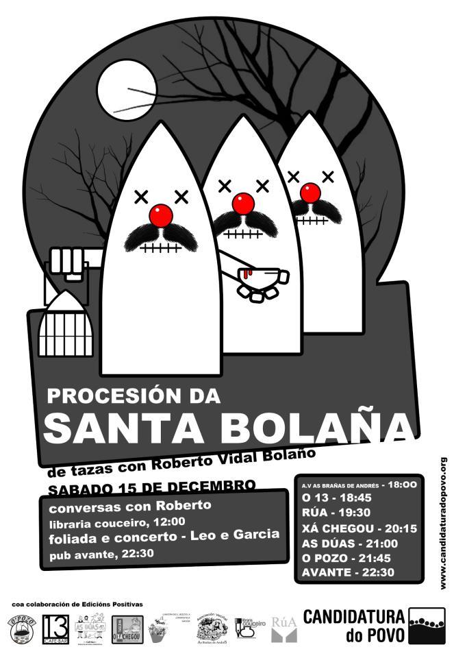 A <i>Procesión da Santa Bolaña</i> incluirá representacións de fragmentos das súas obras