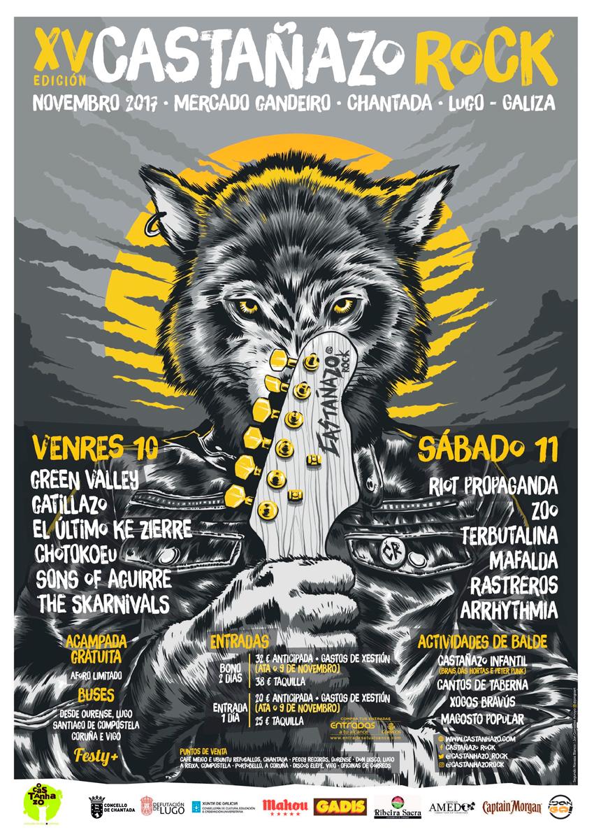 Doce concertos para o XV Castañazo o vindeiro mes de outubro en Chantada