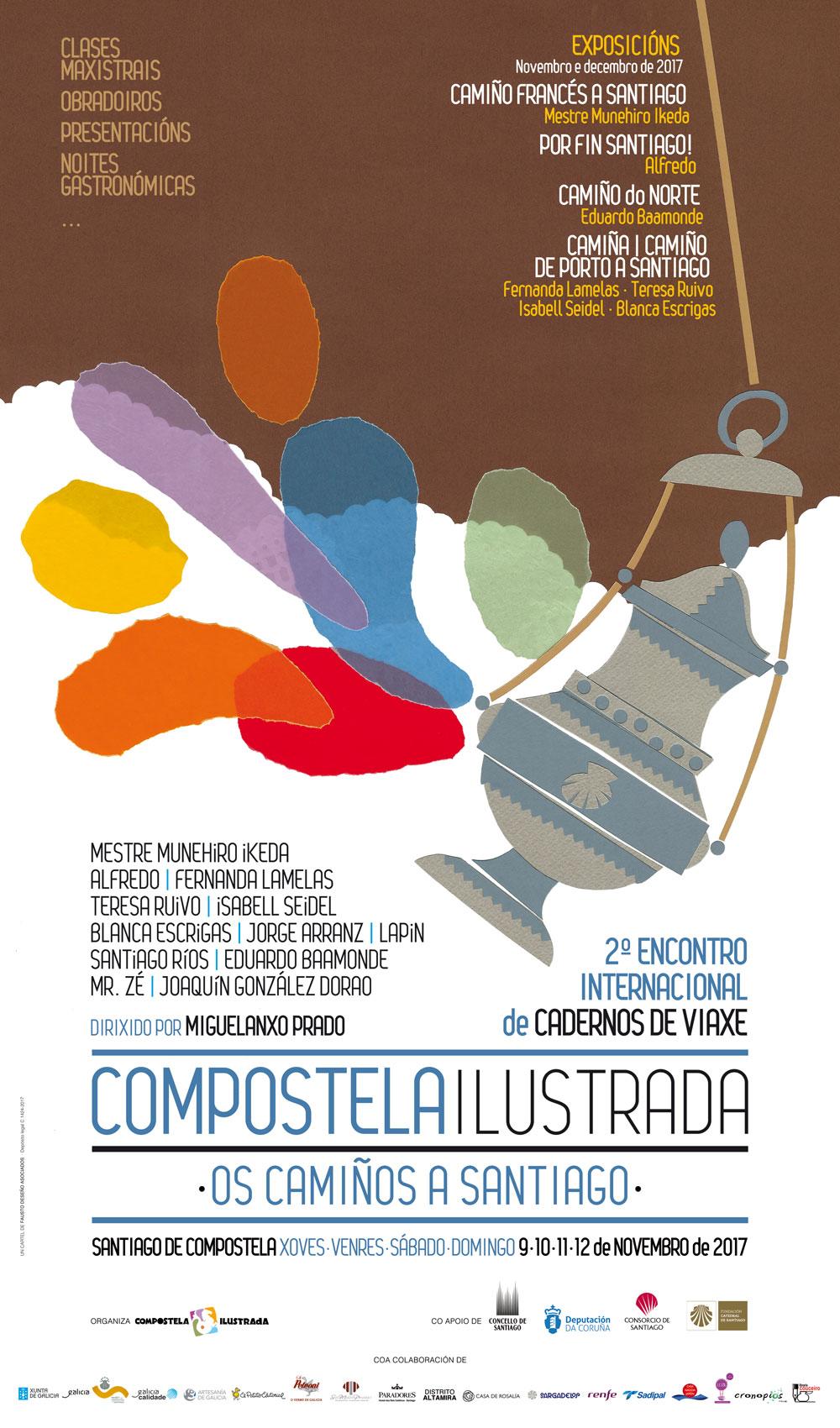 <i>Compostela Ilustrada</i> contará con artistas como Munehiro Ikeda, Alfredo, Jorge Arranz, Fernanda Lamelas ou Isabell Seidell