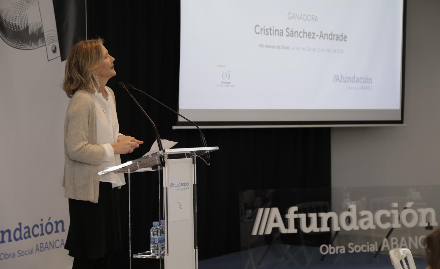 Cristina Sánchez-Andrade é a vencedora do XL Premio de Xornalismo Julio Camba
