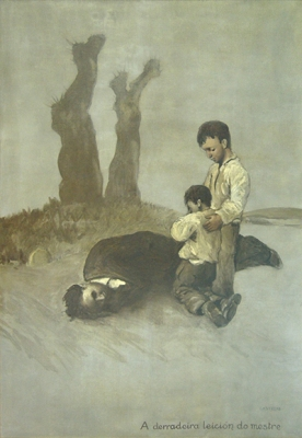 O cadro <i>A derradeira leición do mestre</i> poderá verse por vez primeira en Galicia