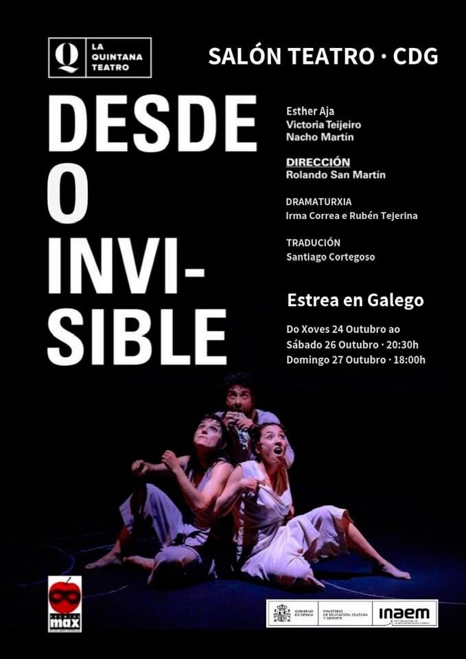 Estréase en galego 'Desde o invisible' de la Quintana Teatro