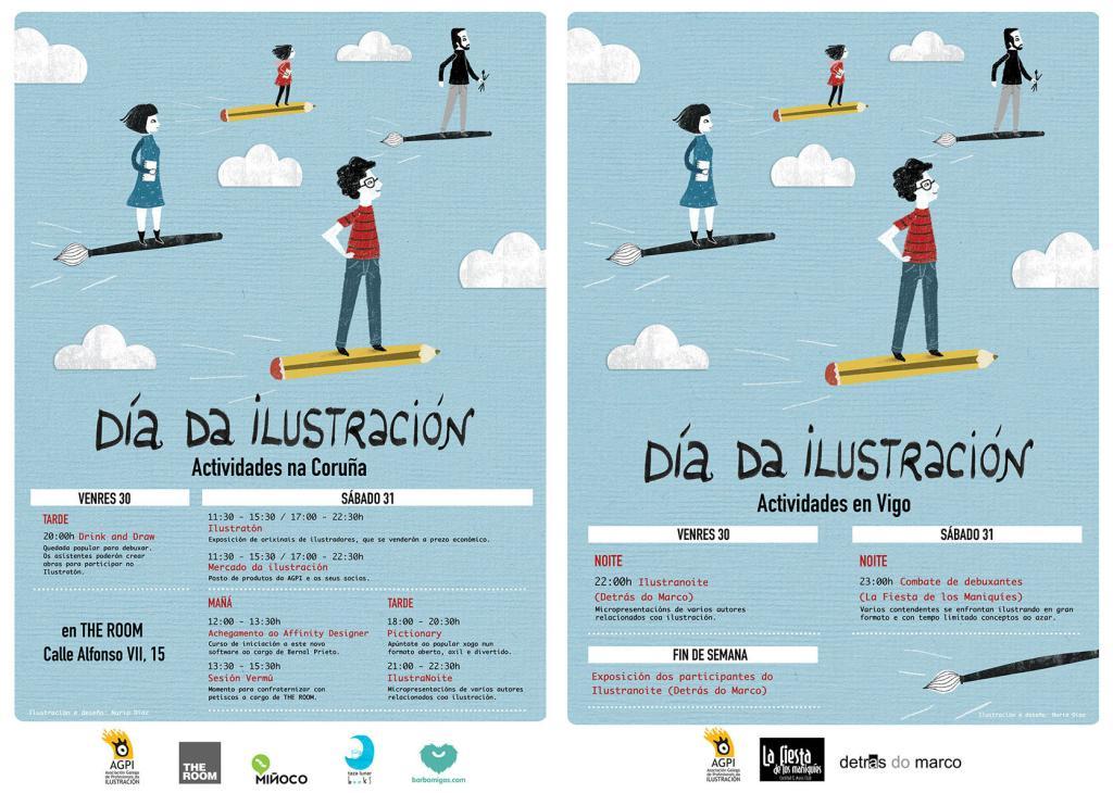 A Asociación de Ilustradores conmemora a data o 30 de xaneiro