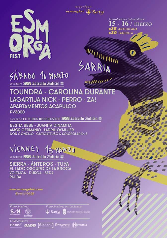 O Vº Esmorga Fest de Sarria presenta cartel completo