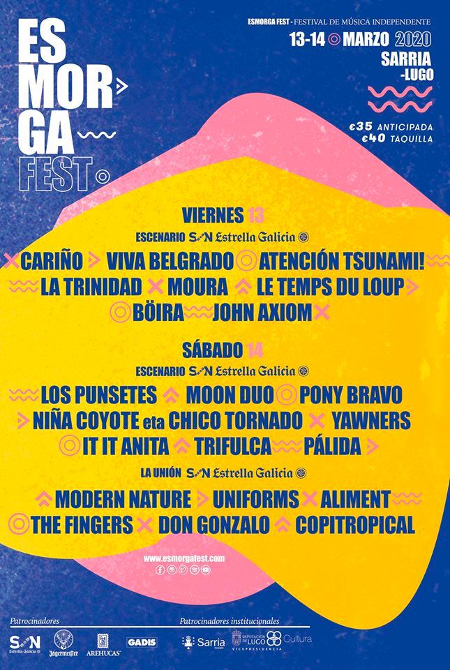 Silfest de Valdeorras e Atlantic Fest engaden nomes para as súas novas edicións e SonRías Baixas pecha cartel
