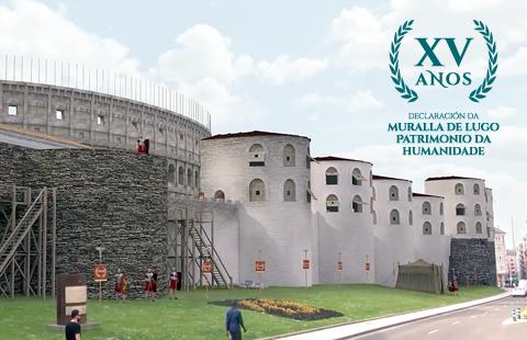 A Muralla de Lugo celebra 15 anos como Patrimonio da Humanidade