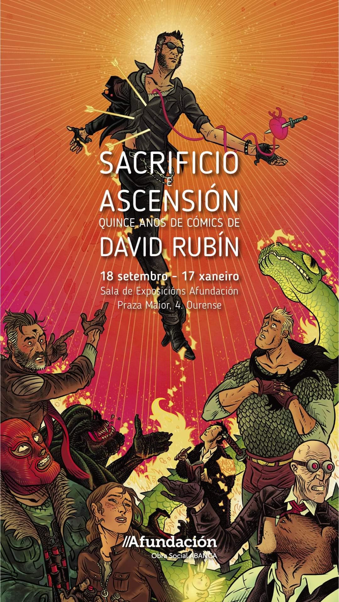<i>Sacrificio e ascensión. 15 anos de cómics de David Rubín</i> estará aberta na sede de Afundación ata o 17 de xaneiro