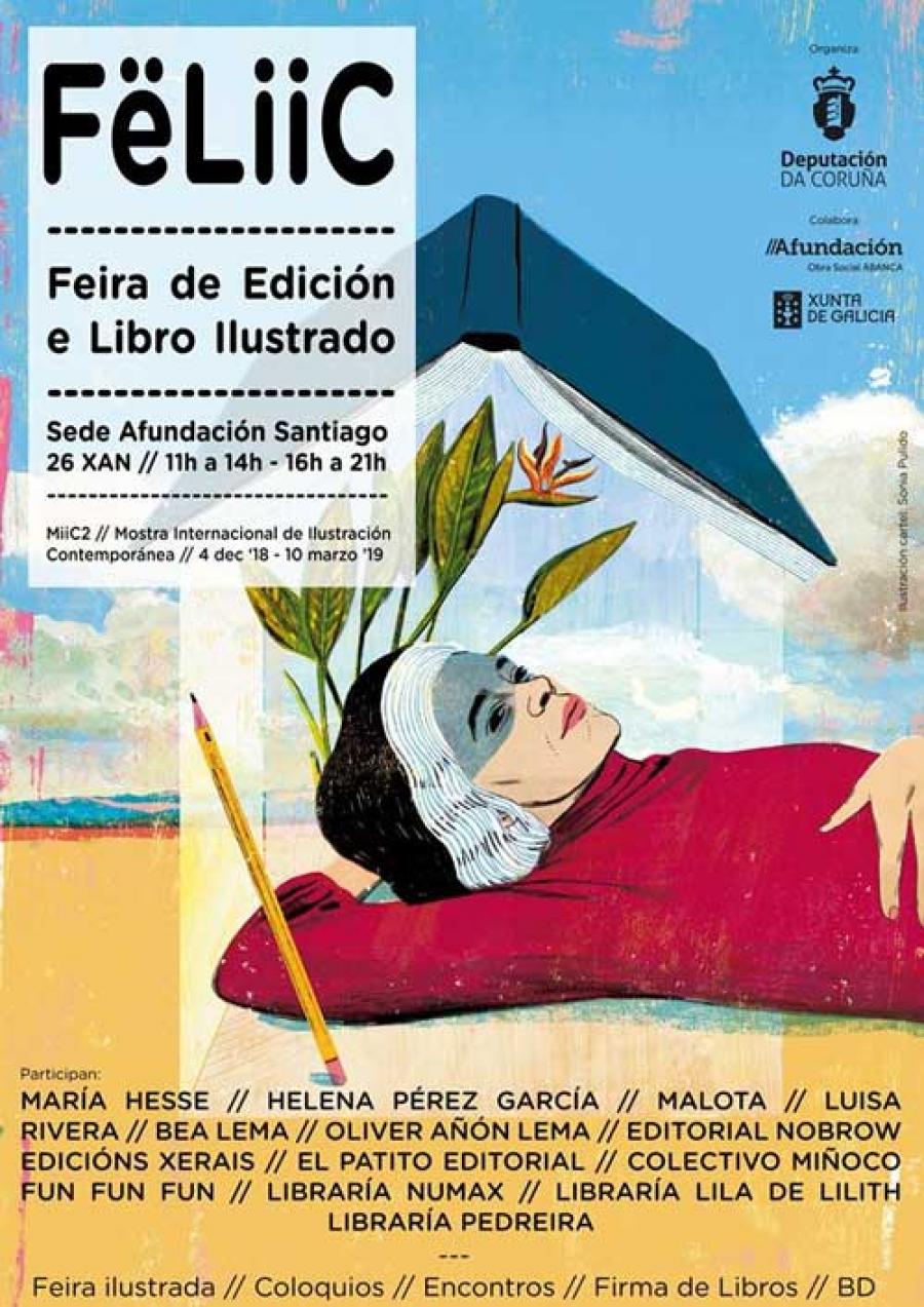 A Fëliic leva a ilustración e a edición a Compostela