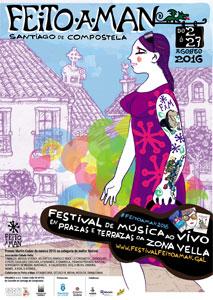 Sesenta actuacións de rúa no <i>Feito a man</i> de Compostela en agosto