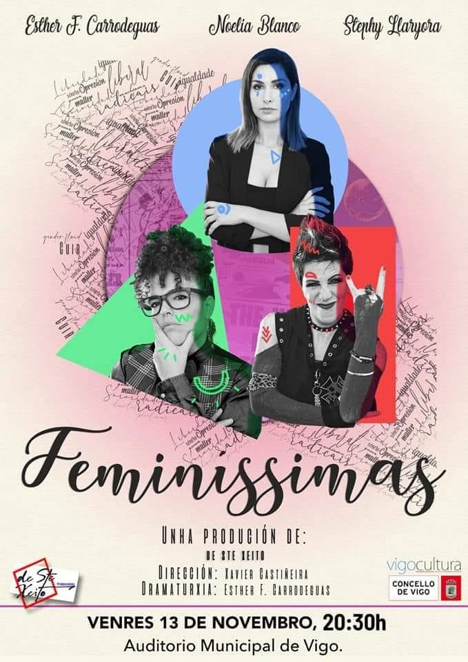 A autora xunto con Noelia Blanco e Stephy Llaryora protagonizan esta comedia violeta