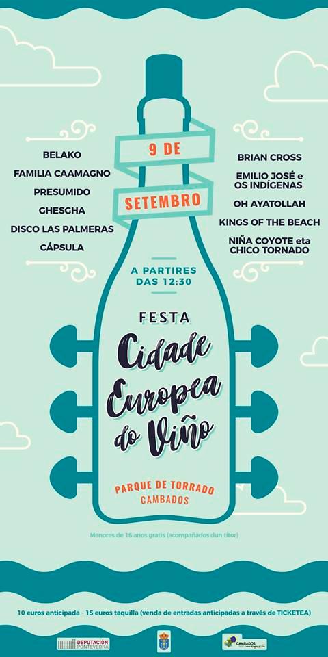 Preséntase o cartel da Festa Cidade Europea do Viño en Cambados