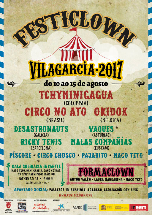 O Festiclown volve a Vilagarcía e as súas parroquias