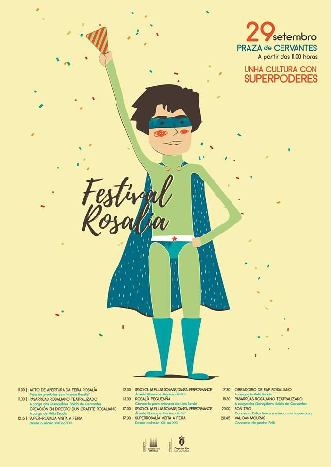 O II Festival Rosalía chega a Compostela o 29 de setembro