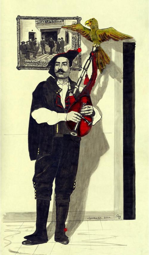 O Museo de Pontevedra abre mañá a mostra 'Gaiteiraos' de César Lombera