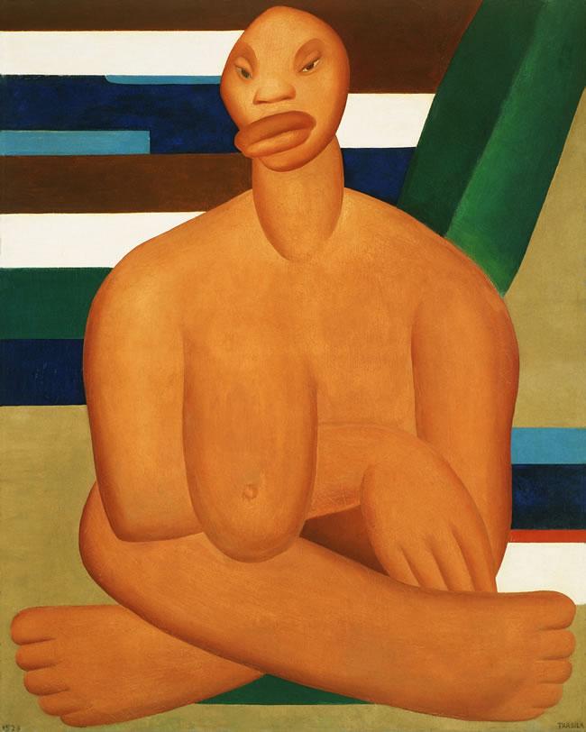 A Negra, Tarsila do Amaral, 1923, Pintura � Tarsila do Amaral Empreendimentos