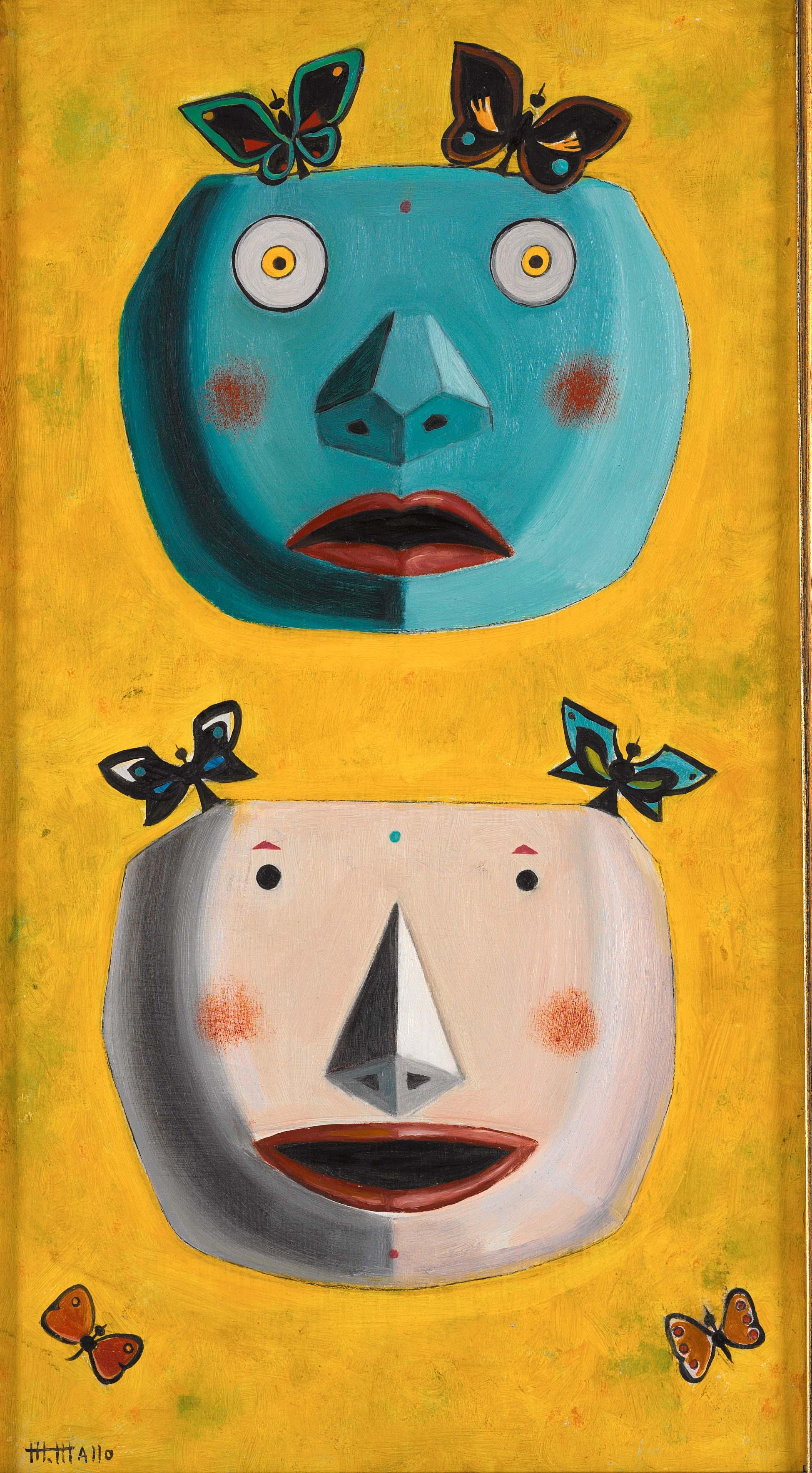 M�scaras con mariposas. ca. 1950-55