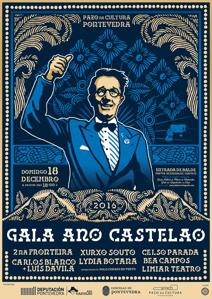 Pontevedra acolle a Gala Ano Castelao o vindeiro 18 de decembro na Coruña