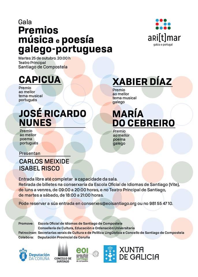 Os galardóns recoñecen os mellores traballos de música e poesía galego-portuguesa
