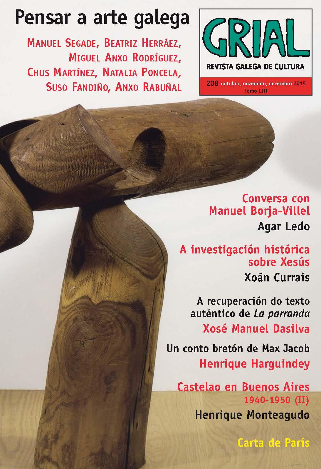 A arte galega protagoniza a nova entrega da revista de Galaxia