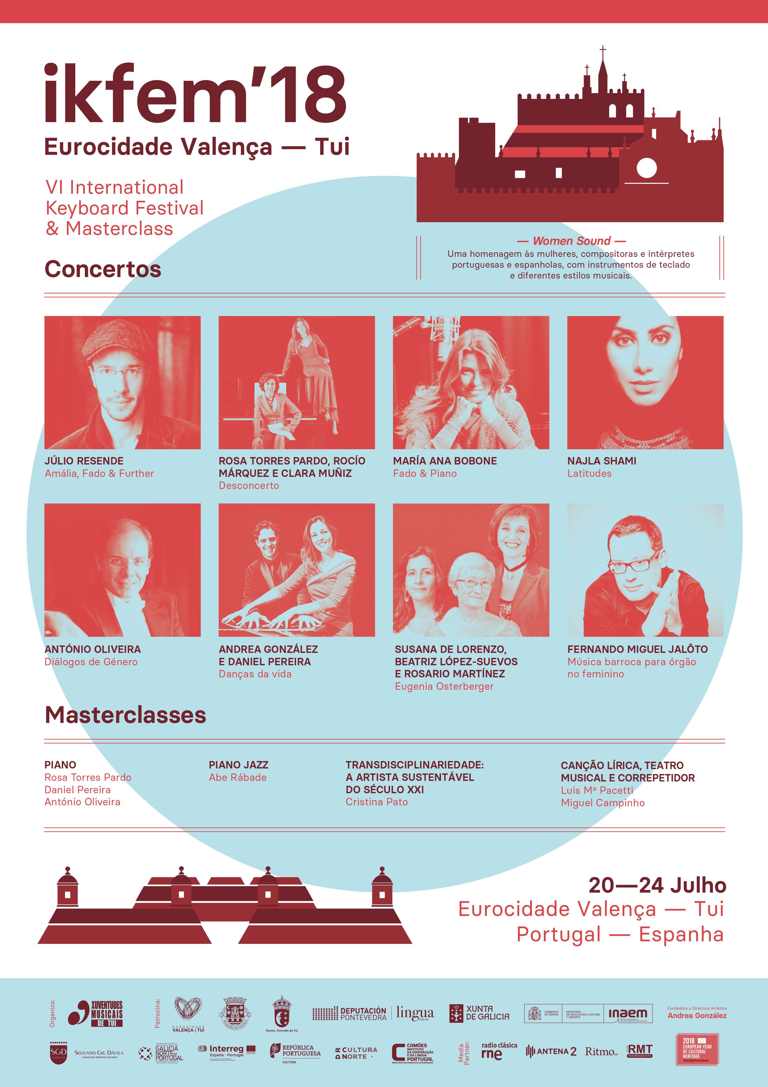 O International Keyboard Festival & Masterclass celébrase entre o 20 e o 24 de xullo