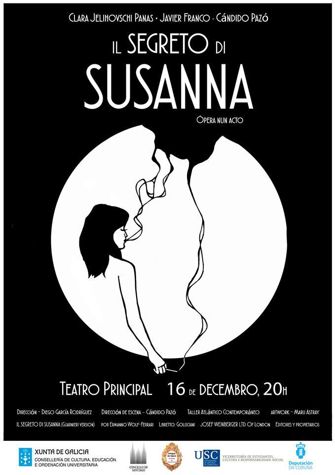Amigos da Ópera de Santiago leva a escena <i>Il segreto di Susana</i>
