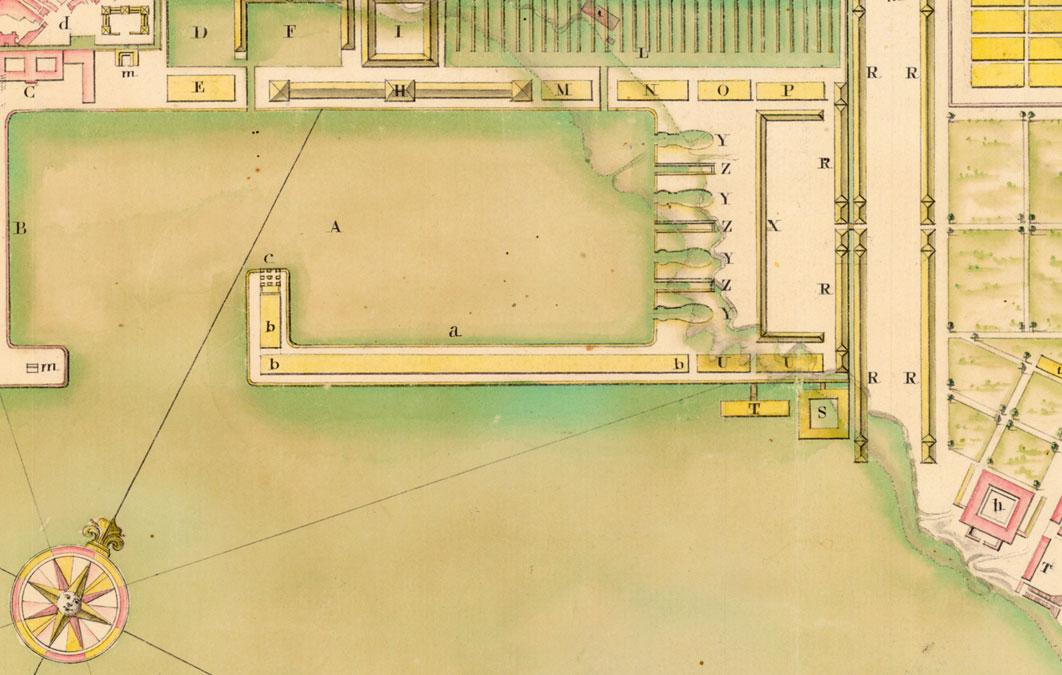 Os planos do século XVIII amosan a configuración e os proxectos para a Galicia daquel momento